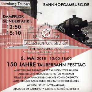 150JahreTauberbahnGamburgFlyerDampflokSonderfahrtTaubertal